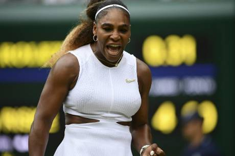 Serena Williams in Wimbledon im Halbfinale