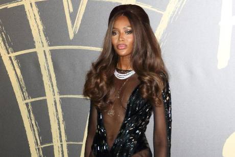 "Supermodel Naomi Campbell posiert bei der ""Fashion For Relief""-Party in London"