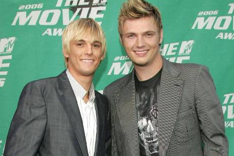 Aaron Carter und Nick Carter 2006 bei den MTV Movie Awards