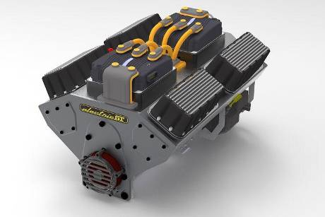 10/2019, Elektromotor in V8-Form von Electric GT