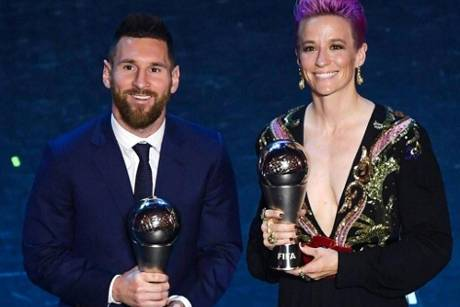 Rapinoe und Messi Favoriten bei Ballon-d'Or-Wahl