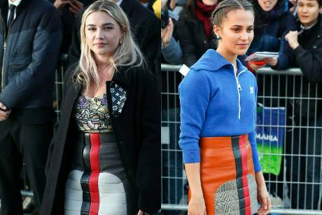 Florence Pugh und Alicia Vikander bei der Paris Fashion Week.