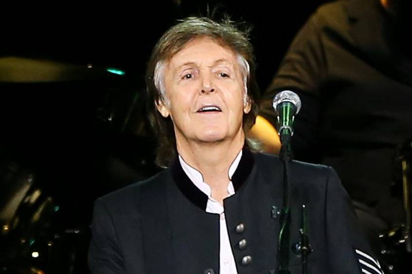 Paul McCartney bei einem Auftritt in New York
