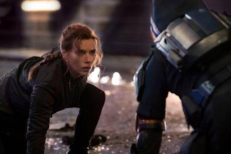 "Scarlett Johansson in ""Black Widow""."