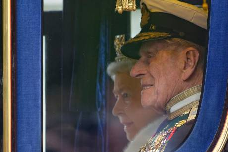 Queen Elizabeth II. und Prinz Philip im Jahr 2013 in London.